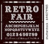 retro fair vintage font... | Shutterstock .eps vector #644079985