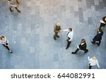 from above two adult business... | Shutterstock . vector #644082991