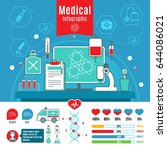flat medical care infographic... | Shutterstock .eps vector #644086021