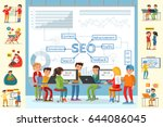 business analysis infographic... | Shutterstock .eps vector #644086045