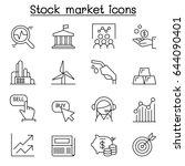 stock market   stock exchange ... | Shutterstock .eps vector #644090401