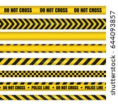 police line and do not cross... | Shutterstock .eps vector #644093857