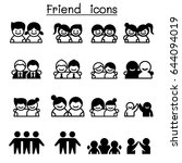 friendship   friend icon set in ... | Shutterstock .eps vector #644094019