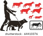 Stock vector set of dogs silhouettes 64410376