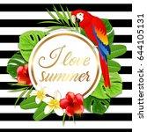 summer round tropical... | Shutterstock .eps vector #644105131