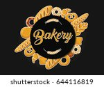 bakery label with different...   Shutterstock .eps vector #644116819