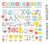 color box icons  elements... | Shutterstock .eps vector #644122579