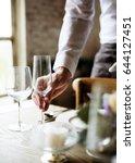 elegant restaurant table... | Shutterstock . vector #644127451