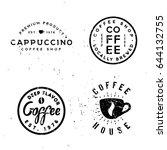 coffee vintage minimal... | Shutterstock .eps vector #644132755
