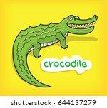 crocodile cartoon vector   Shutterstock .eps vector #644137279