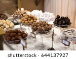 selection of chocolate in a row ... | Shutterstock . vector #644137927