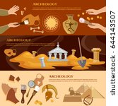 archeology and paleontology... | Shutterstock .eps vector #644143507