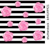 rose flower background | Shutterstock .eps vector #644149921