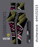 leggings pants fashion vector... | Shutterstock .eps vector #644152315