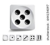 playing dice vector set. 3d... | Shutterstock .eps vector #644154097