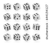 playing dice vector set.... | Shutterstock .eps vector #644154127