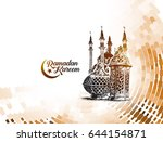eid mubarak celebration ... | Shutterstock .eps vector #644154871