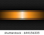 abstract gold black line banner ... | Shutterstock .eps vector #644156335