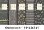 trendy seamless pattern... | Shutterstock .eps vector #644166814