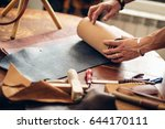 caucasian leather craft... | Shutterstock . vector #644170111