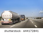 gas or oil truck on road... | Shutterstock . vector #644172841