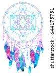 native american indian talisman ... | Shutterstock .eps vector #644175751