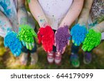 hands   palms of young people... | Shutterstock . vector #644179099