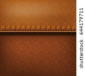 realistic leather texture with... | Shutterstock .eps vector #644179711