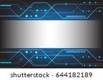 vector abstract technology... | Shutterstock .eps vector #644182189