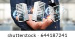 businessman on blurred... | Shutterstock . vector #644187241