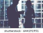 half length portrait of young... | Shutterstock . vector #644191951