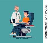 lovely flat design illustration ... | Shutterstock .eps vector #644197051