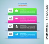 modern infographics options...   Shutterstock .eps vector #644200339