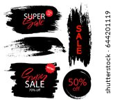 set of sale  discount stickers... | Shutterstock .eps vector #644201119