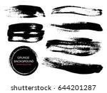 large grunge elements set.... | Shutterstock .eps vector #644201287