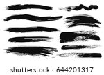 large grunge elements set.... | Shutterstock .eps vector #644201317