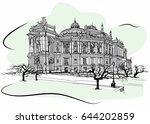 odessa national academic opera... | Shutterstock .eps vector #644202859