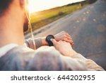 young athlete runner in... | Shutterstock . vector #644202955