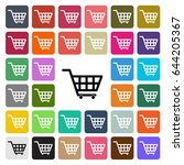 vector modern shopping cart... | Shutterstock .eps vector #644205367