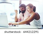 couple of young office...   Shutterstock . vector #644212291