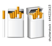 pack of cigarettes isolated on... | Shutterstock .eps vector #644221615