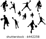 a silhouette isolated shot of a ... | Shutterstock . vector #6442258