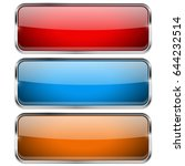 colored rectangle buttons.... | Shutterstock .eps vector #644232514