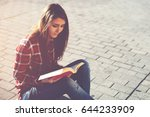 young casual dressed hipster...   Shutterstock . vector #644233909