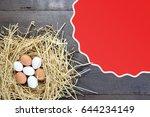 chicken eggs  eggs in the nest | Shutterstock . vector #644234149