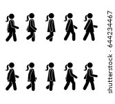 woman people various walking... | Shutterstock .eps vector #644234467