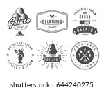 set of gelato badges. vector...
