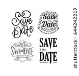 vector illustration wedding... | Shutterstock .eps vector #644242219