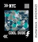 new york cool dude t shirt...   Shutterstock .eps vector #644243425