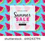 summer sale banner template for ...   Shutterstock .eps vector #644243794